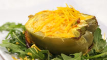 Southwestern Avocado-Bell Pepper Quiche Cups