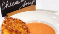 Crunchy Grilled Cheese and Tomato Soup