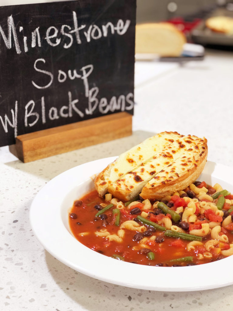Black Bean Minestrone Soup Cooking With Chef Bryan